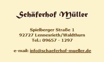 SCHÄFERHOF MÜLLER